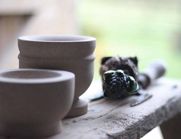 Stone crucible pots