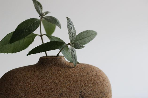 millstone grit stone vase