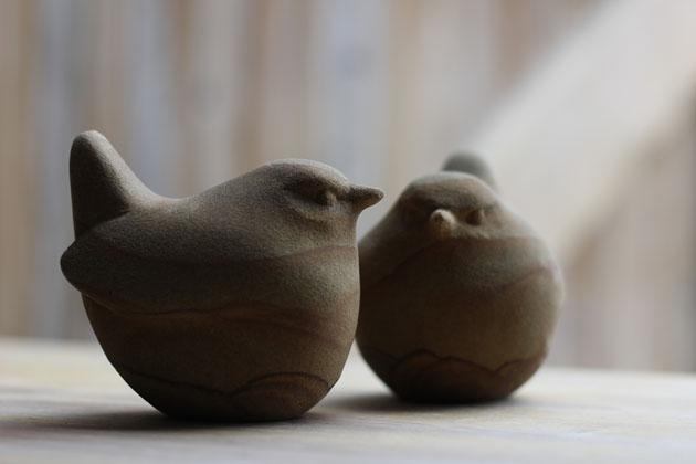 Two Little Birds sculpture