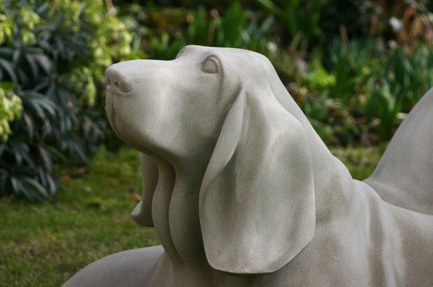 Basset Hound sculpture