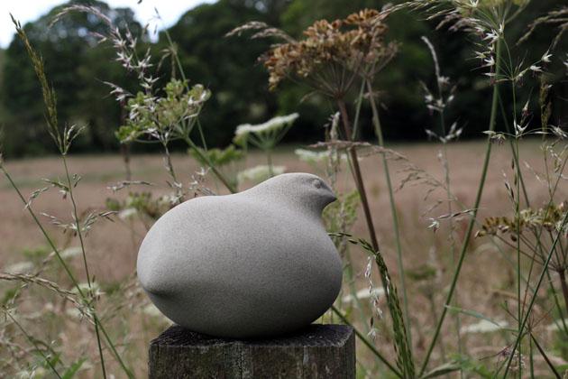 Quail sculpture