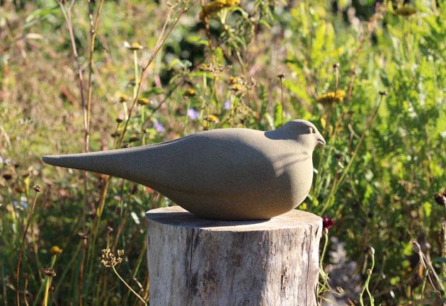 Finch sculpture