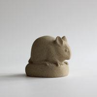Wood Mouse sculpture