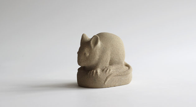 Wood Mouse stone carving