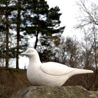 Barclays Bird stone sculpture