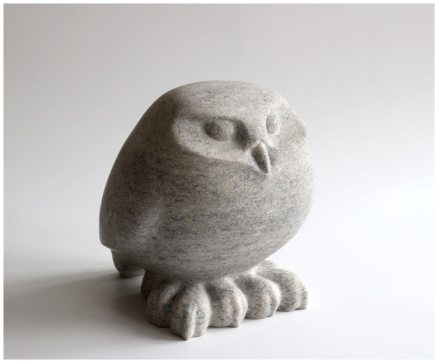 Little Owl stone sculpture