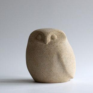 Owl sculpture in stone