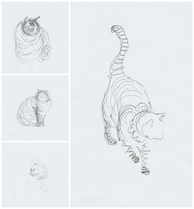 Initial sketches for sculpture