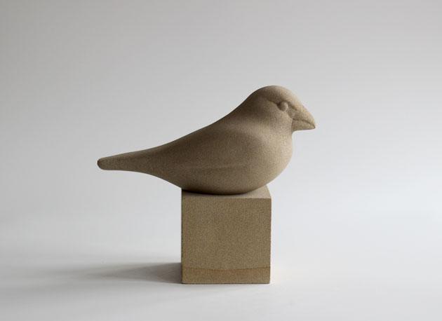 Hawfinch sculpture