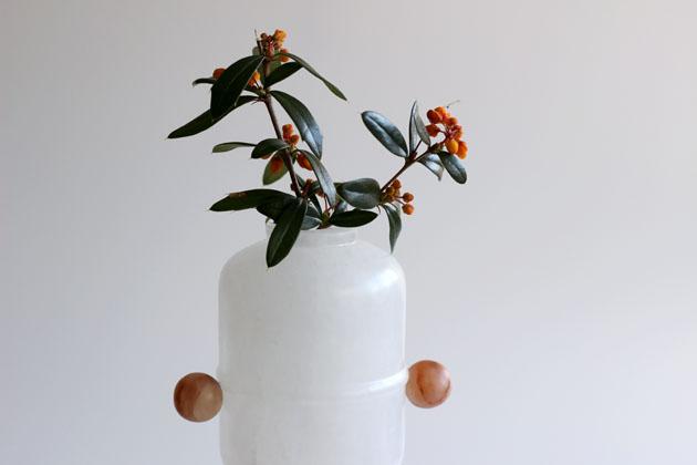Peep Egg alabaster vase