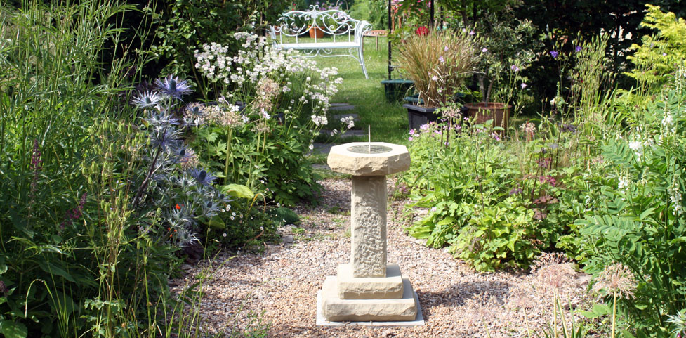 Sundial feature for the garden