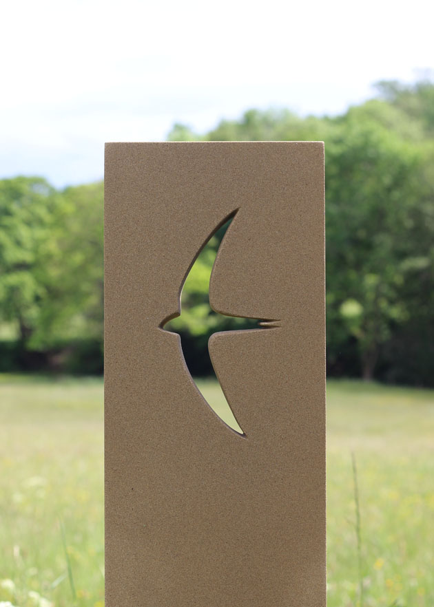 swift in flight sculpture