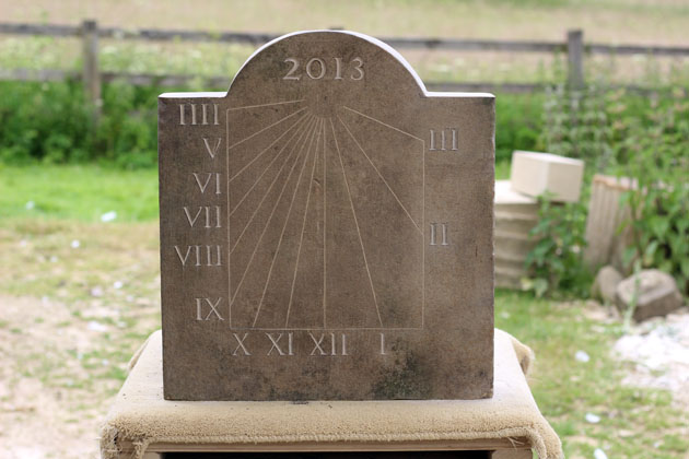 first carve of the sundial numerals