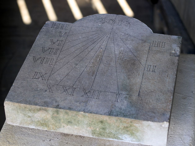 drawing the design on the stone