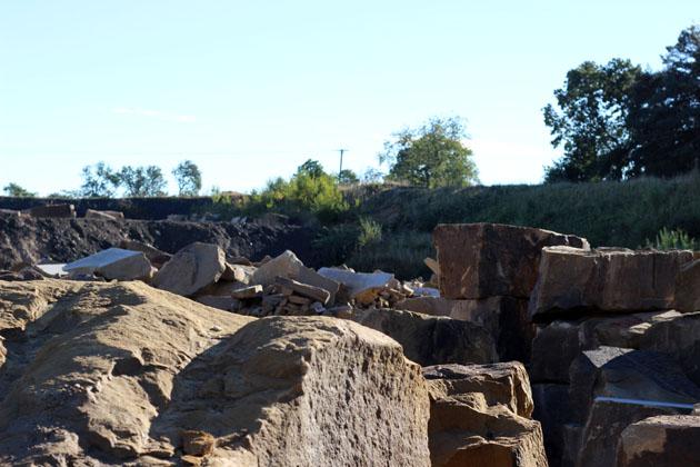 Sandstone at Dunhouse Quarry